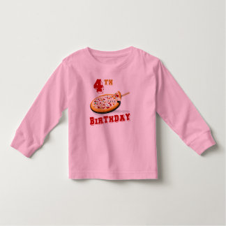 4th Birthday Pizza Party T-shirt