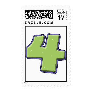 4th birthday postage