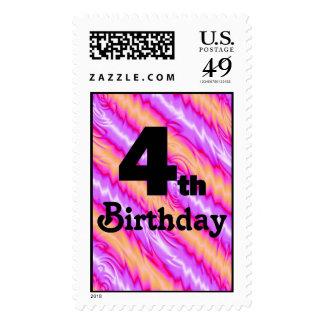 4th Birthday Postage Stamp