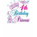 4th Birthday Princess shirt