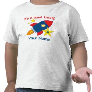 4th Birthday Rocket Ship Personalized T-shirt