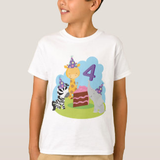 4th Birthday Safari T-Shirt