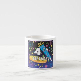 4th Birthday 6 Oz Ceramic Espresso Cup