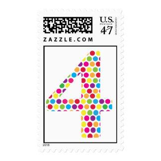4th Birthday Stamp