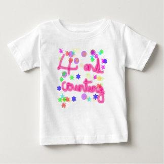 4th birthday starry baby T-Shirt