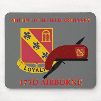 4TH BN 319TH ARTILLERY 173D AIRBORNE MOUSEPAD