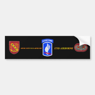 4TH BN 319TH ARTY 173D AIRBORNE BUMPER STICKER