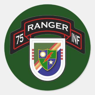 4th Bn, 75th Infantry Regiment - Rangers Classic Round Sticker