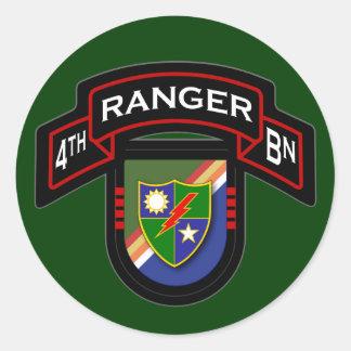 4th Bn, 75th Ranger Regiment - Airborne Classic Round Sticker