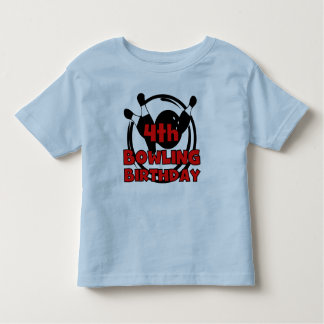 4th Bowling Birthday Tee Shirt