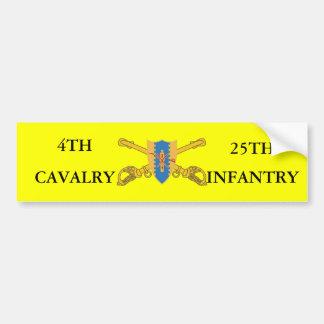 4TH CAVALRY 25TH INFANTRY BUMPER STICKER CAR BUMPER STICKER