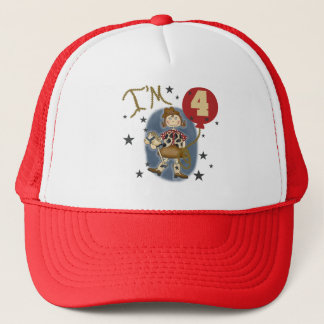 4th Cowgirl Birthday Tshirts and Gifts Trucker Hat