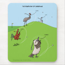 4th Day of Christmas (Four Birds) Mousepad