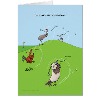 4th Day of Christmas (Four Calling Birds) Card) Card
