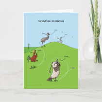 4th Day of Christmas (Four Calling Birds) Card) Holiday Card