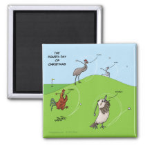 4th Day of Christmas (Four Calling Birds) Magnet