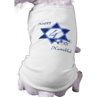 4th Day of Hanukkah Dog Shirt