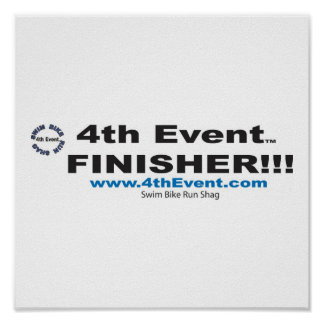 4th Event Finishers Poster