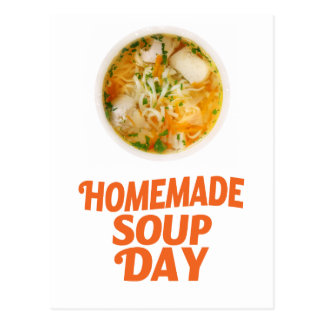 4th February - Homemade Soup Day Postcard