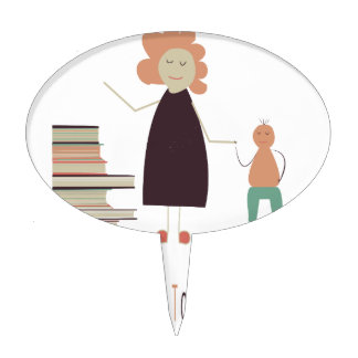 4th February - Take Your Child To The Library Day Cake Topper