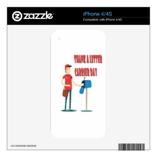4th February - Thank A Letter Carrier Day Decal For iPhone 4S