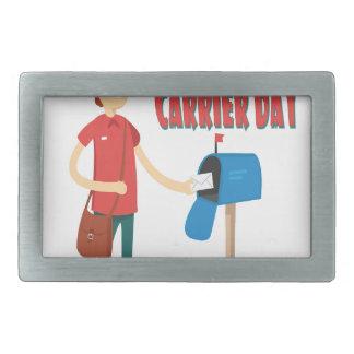 4th February - Thank A Letter Carrier Day Rectangular Belt Buckle