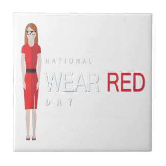 4th February - Wear Red Day - Appreciation Day Tile
