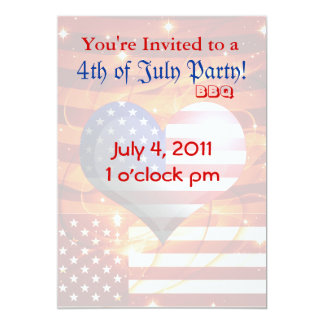 4th Fourth of July BBQ Party Card