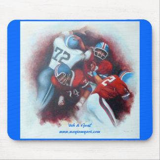 '4th & Goal' original oil by C. Sessarego Mouse Pad