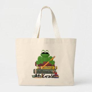 4th Grade Frog, kid's shirts Canvas Bags