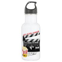 4th Grade Movie Clapboard Stainless Steel Water Bottle