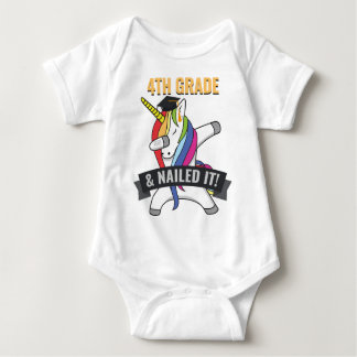 4TH GRADE Nailed It Unicorn Dabbing Graduation Baby Bodysuit