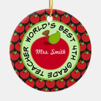 4th Grade Personalized Teacher Gift Ornament