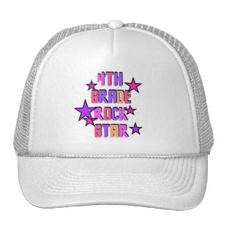 4th Grade Rock Star Tshirts and Gifts Trucker Hats