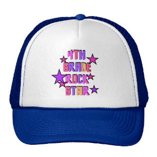 4th Grade Rock Star Tshirts and Gifts Trucker Hat
