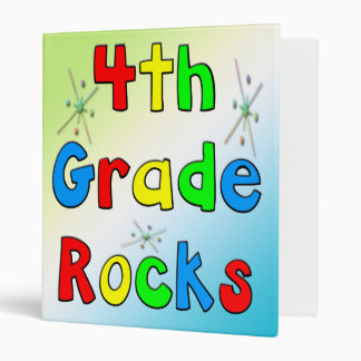 4th Grade Rocks Avery Binder