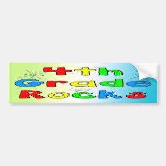 4th Grade Rocks Car Bumper Sticker
