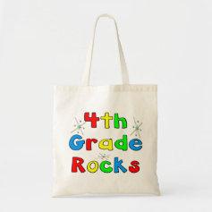 4th Grade Rocks Canvas Bag