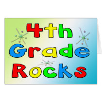 4th Grade Rocks Card