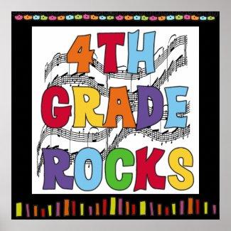 4th Grade Rocks Classroom Poster