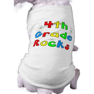 4th Grade Rocks Dog Tee