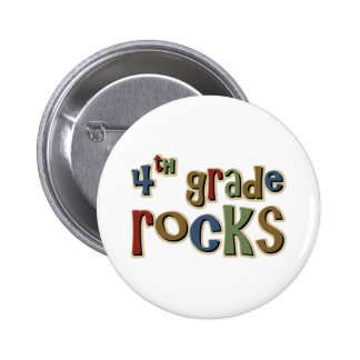 4th Grade Rocks Fourth 2 Inch Round Button