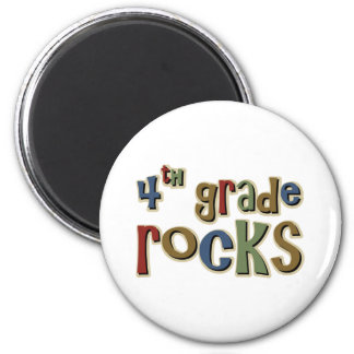 4th Grade Rocks Fourth 2 Inch Round Magnet