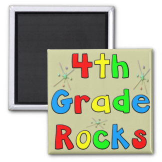 4th Grade Rocks Refrigerator Magnet