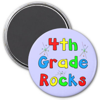4th Grade Rocks Fridge Magnet