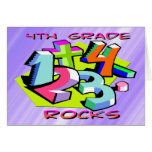 4th Grade Rocks - Numbers Card