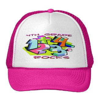 4th Grade Rocks - Numbers Mesh Hat