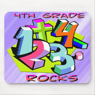 4th Grade Rocks - Numbers Mouse Pad