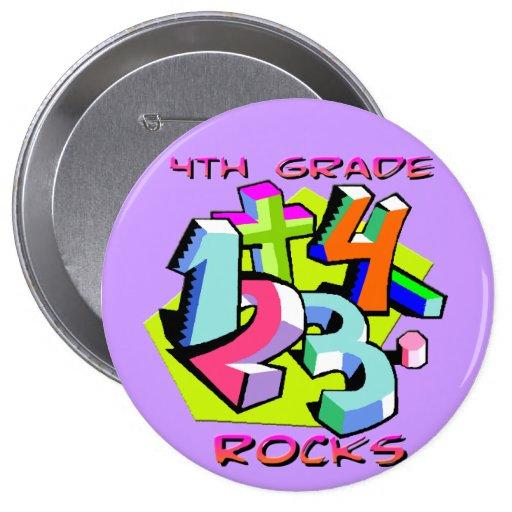 4th Grade Rocks - Numbers Pin