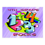 4th Grade Rocks - Numbers Postcard